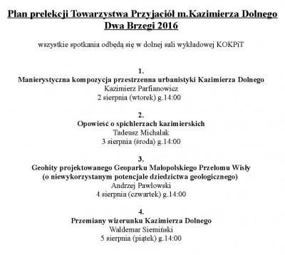 Prelekcje TPMKD - Dwa Brzegi 2016